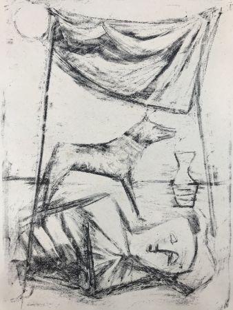 Litografía Campigli - SOTTO LA TENDA