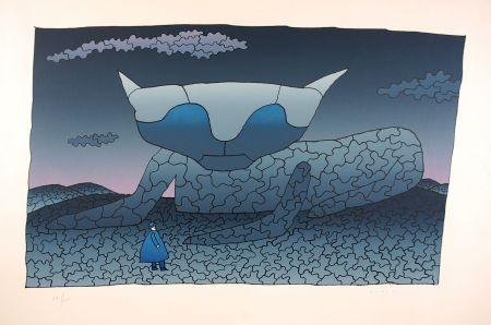 Serigrafía Folon - Souvenir d'Alice