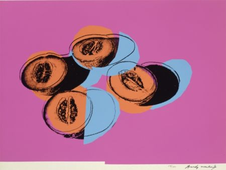 Serigrafía Warhol - Space Fruit: Cantaloupes II (FS II.198)