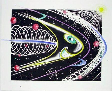 Grabado Scharf - Space Traveler
