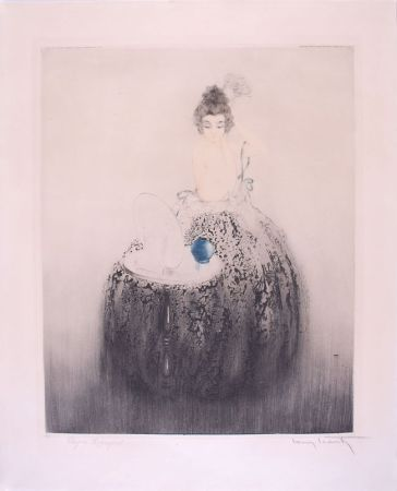 Aguafuerte Icart - Spanish Comb (Blue vanity) - Peigne Espagnol
