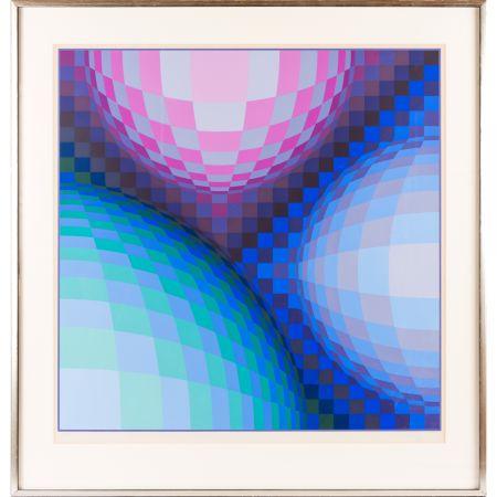 Serigrafía Vasarely - Spheres