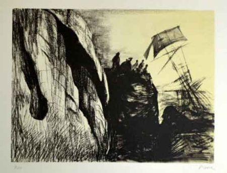 Litografía Moore - Sphipwreck II