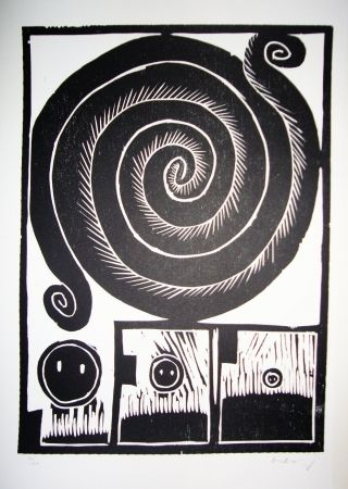 Grabado En Madera Alechinsky - Spirale