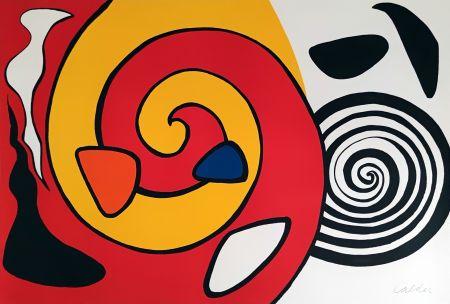 Litografía Calder - Spirale et turban