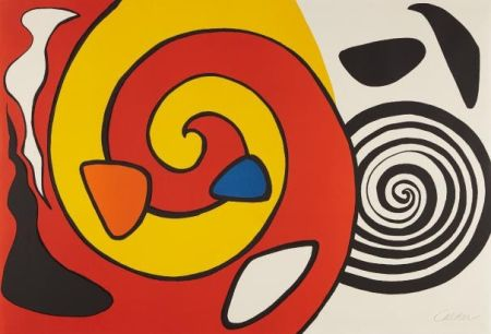 Litografía Calder - Spirals And Forms