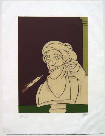 Litografía Adami - Stèle