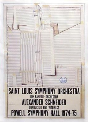 Litografía Steinberg - St. Louis Symphony Orchestra