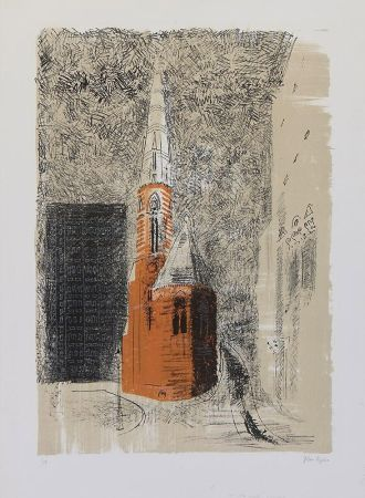 Litografía Piper - St Mary's Paddington