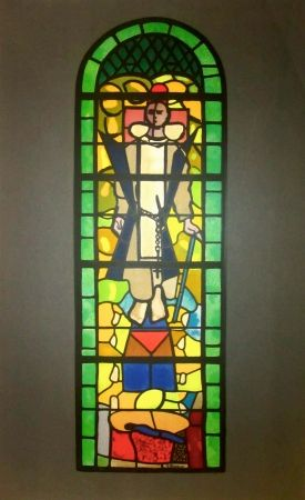 Litografía Braque - Stained glass window at Church of Saint Dominique, Varengeville
