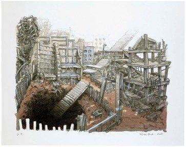 Litografía Oiwa - STAIRS