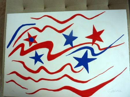 Litografía Calder - Stars And Stripes