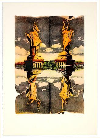 Litografía Bury - Statue de la liberté