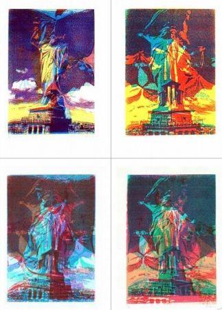 Serigrafía Bury - Statue de la liberté, 8 variations