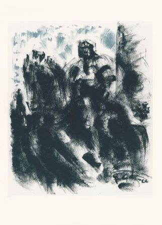 Litografía Masson - Statue du Colleoni, la nuit (Voyage à Venise)