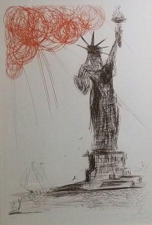 Aguafuerte Dali - Statue Of Liberty