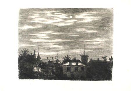Grabado Meid - Steglitzer Mondnacht