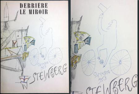 Libro Ilustrado Steinberg - STEINBERG. (avec dessin original signé et daté). Derrière le Miroir 1953