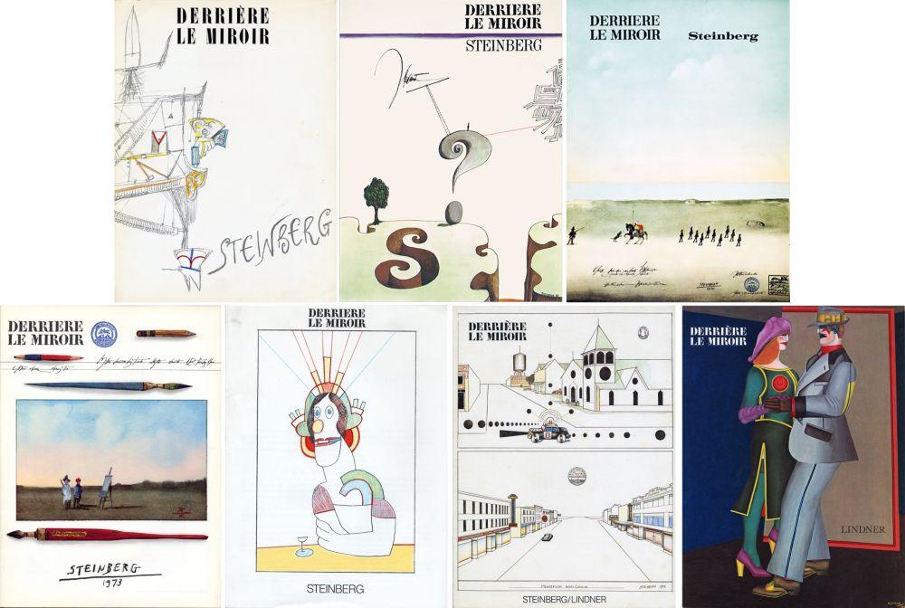 Libro Ilustrado Steinberg - STEINBERG. Collection complète des 7 volumes de la revue DERRIÈRE LE MIROIR consacrés à Steinberg (de 1953 à 1980).