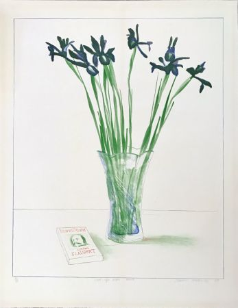 Litografía Hockney - Still Life with Book