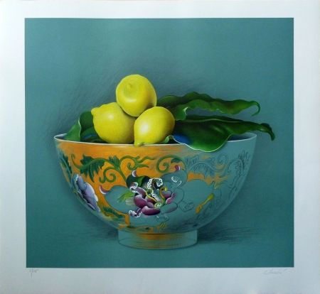 Litografía Donadini - Still Life with Lemons