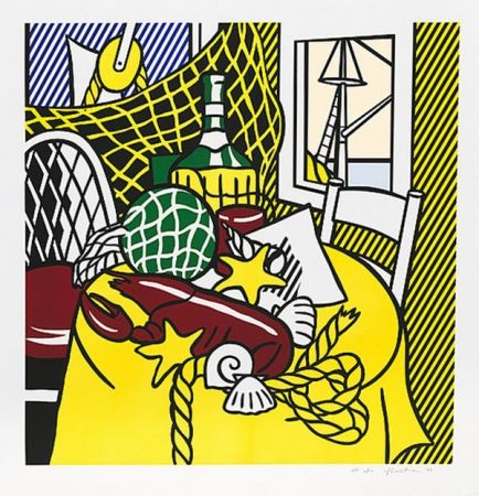 Serigrafía Lichtenstein - STILL LIFE WITH LOBSTER