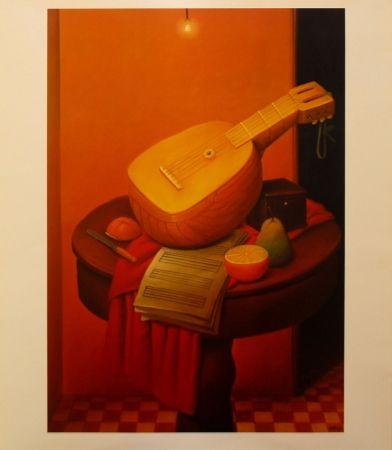 Litografía Botero - Still Life with Mandoline