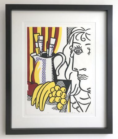 Serigrafía Lichtenstein - Still life with Picasso