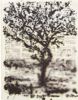 Grabado Kentridge - Stone Tree II