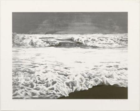 Litografía Gornick - Storm sea