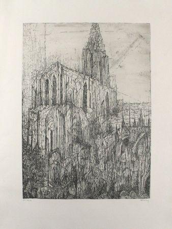 Grabado Eliasberg - Strassburger Münster