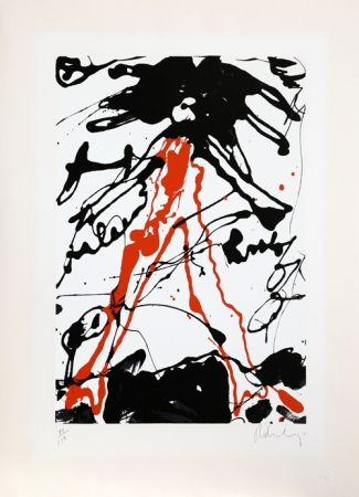 Serigrafía Oldenburg - Striding Figure