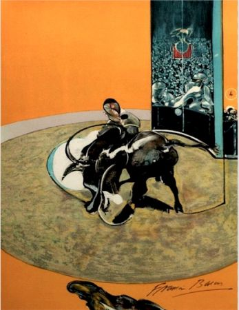 Litografía Bacon - Study for bullfight, n° 2