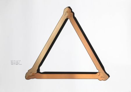 Serigrafía Morris - Study for Copper Sculpture