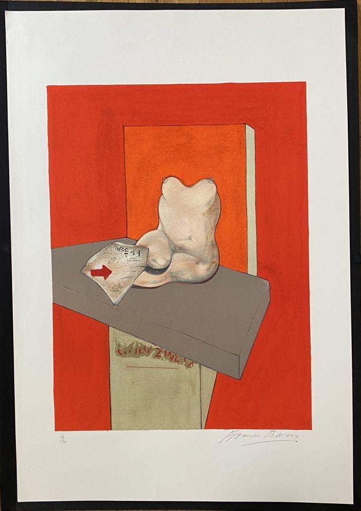 Litografía Bacon - Study of a human body after Ingres