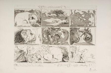 Aguafuerte Y Aguatinta Picasso - Sueno y Mentira de Franco