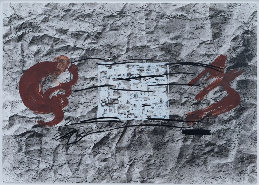 Litografía Tapies - Suite 63 x 90 (No 10)