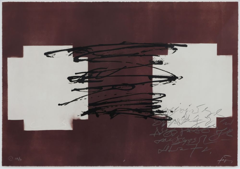 Litografía Tapies - Suite 63 X 90 (No 8)