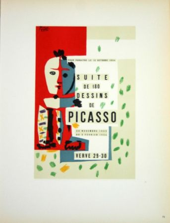 Litografía Picasso (After) - Suite de 180  Dessins  1954