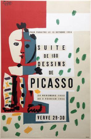 Litografía Picasso - SUITE DE 180 DESSINS. VALLAURIS VERVE 29-30. 1953-1954