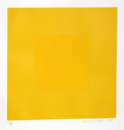 Aguafuerte Y Aguatinta Anuszkiewicz - Summer Suite (Yellow with Yellow)