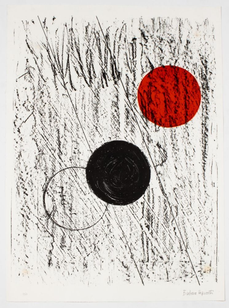 Litografía Hepworth - Sun and Moon