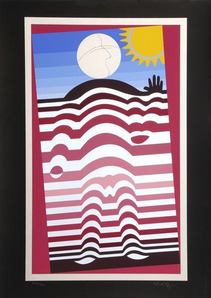 Serigrafía Vasarely - Sunbather