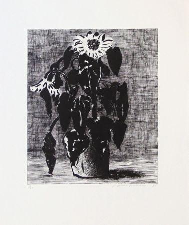 Aguafuerte Y Aguatinta Hockney - Sunflowers I