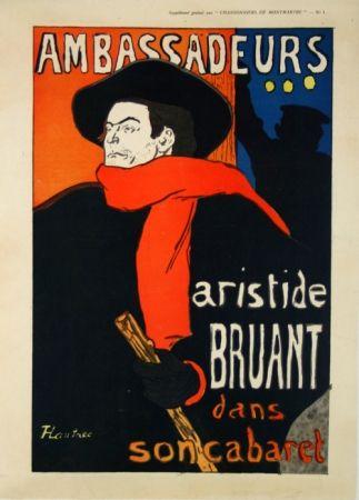 Cartel Toulouse-Lautrec - Supplément  Chansonniers de Montmartre  Aristide Bruant