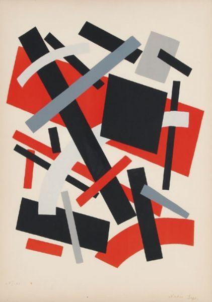 Litografía Léger Khodossievitch - Suprématisme I