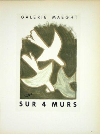 Litografía Braque - Sur 4 Murs