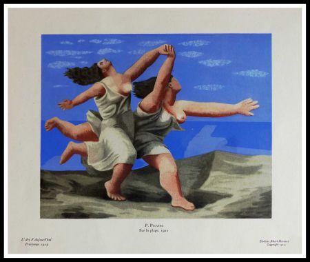 Pochoir Picasso (After) - SUR LA PLAGE