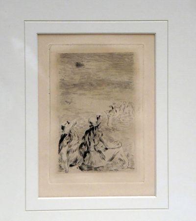 Grabado Renoir - Sur la Plage a Berneval