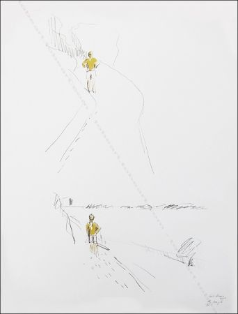 Litografía Buraglio - Sur le chemin.